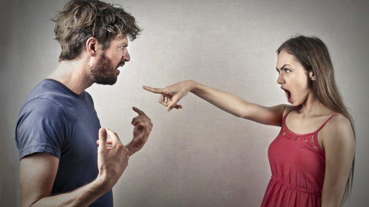 woman accusing man